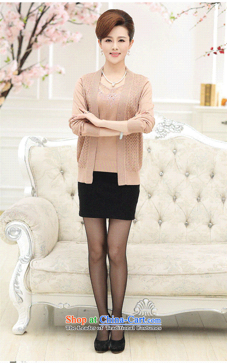 * The autumn and involve Shop Boxed new moms with long-sleeved loose Knitted Shirt of聽middle aged people aged 40-50 women cardigan really two kits purple聽XL Photo, prices, brand platters! The elections are supplied in the national character of distribution, so action, buy now enjoy more preferential! As soon as possible.