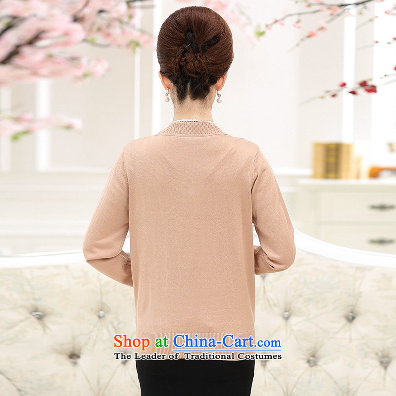 * The autumn and involve Shop Boxed new moms with long-sleeved loose Knitted Shirt of聽middle aged people aged 40-50 women cardigan really two kits聽XL, and jie (purple rvie. shopping on the Internet has been pressed.)
