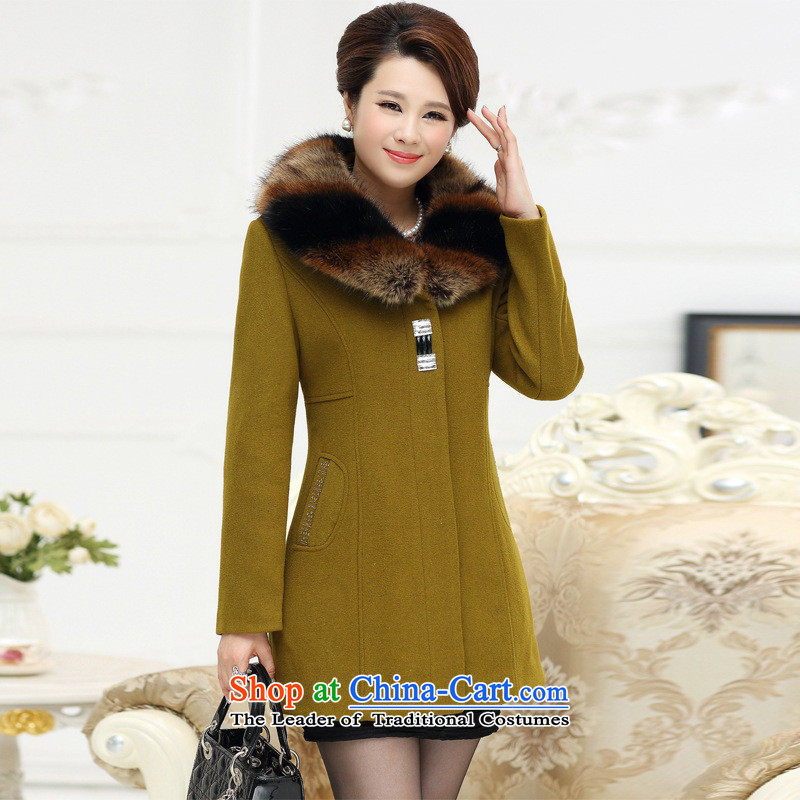 The Secretary for Health related shop _ middle-aged female woolen coats wedding mother load? boxed long-sleeved sweater in autumn of the elderly in the larger autumn and winter wine red�L