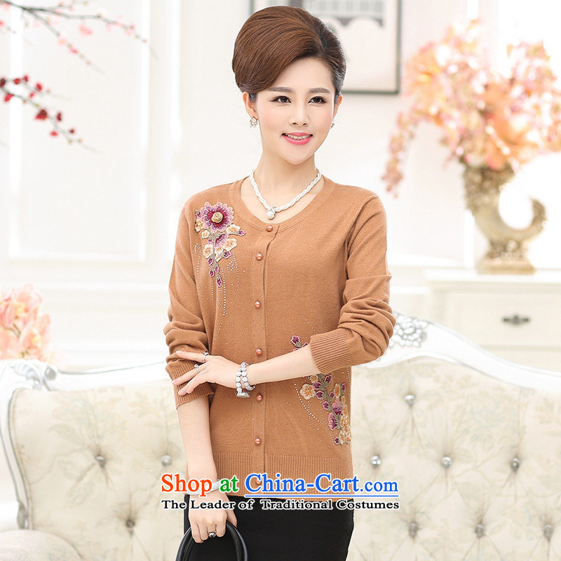The Secretary for Health concerns of older women shop _ Replacing Fall_Winter Collections new knitwear cardigan older persons a light jacket with long-sleeved sweater girl mothers pickled green?2XL