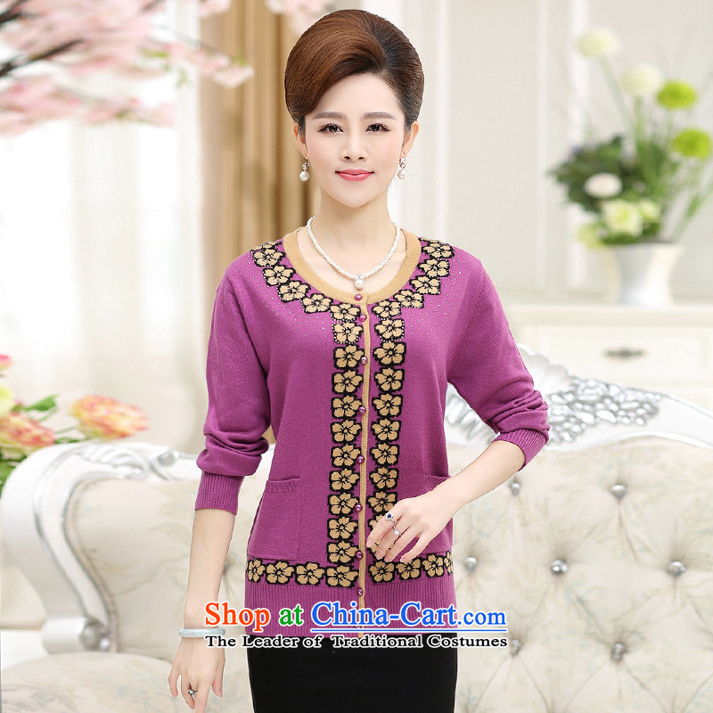 The Secretary for Health concerns of older women shop _ replacing knitting cardigan jacket MOM pack new products fall long-sleeved sweater middle-aged ladies?3XL_ dark red woolen sweater recommendations 150-165¨catties_