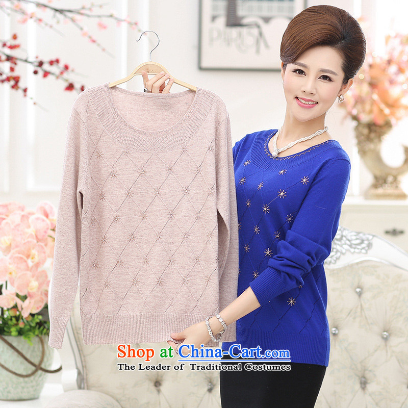 The Secretary for Health concerns of older women shop _ Load New Autumn Knitted Shirt with large long-sleeved mother middle-aged 40-50 autumn and winter clothes and color, forming the women燣