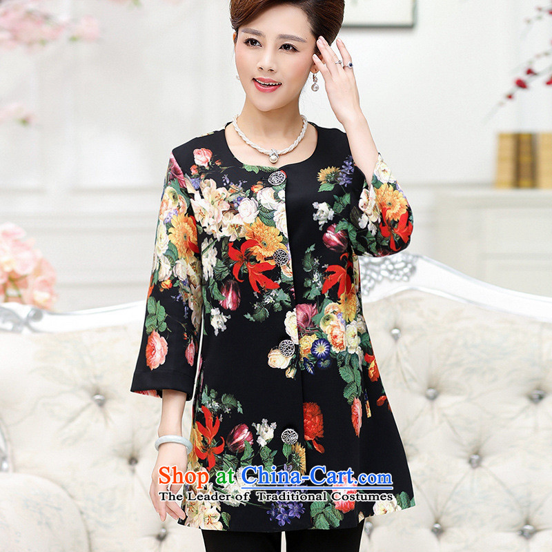 The Secretary for Health concerns of older women shop_ installed on a long-sleeved shirt stamp autumn jacket middle-aged female wedding in large load mother Long Hoodie Black?XL