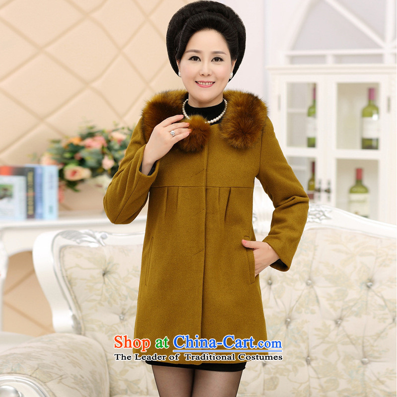 The Secretary for Health concerns of older women shop * woolen coats?? for autumn and winter by sub-thick with middle-aged moms. Long cashmere overcoat Qiu Xiang Wong?XL( recommendations 90-110 catties)