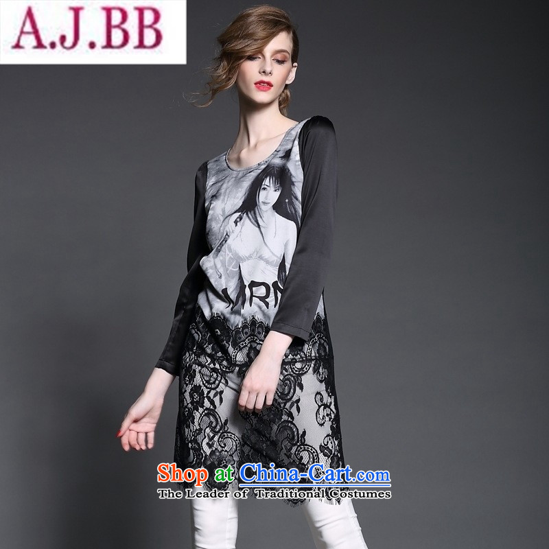 And related shop *2015 autumn and winter Lace Embroidery Stamp fine lace decorated stamp dresses #A498 black?L