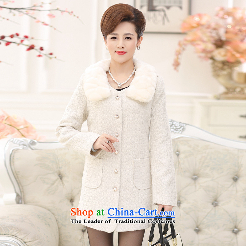 * middle-aged and involving shops in gross? jacket long middle-aged moms replacing Fall/Winter Collections in the new elderly women a wool coat black�4XL