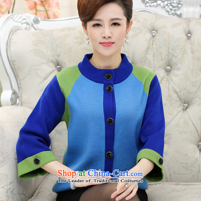 The Secretary for Health concerns of older women shop * Replacing Autumn and Winter Sweater jacket mother loaded thick with large high-collar knitwear cardigan elderly T-shirt Gray 2XL