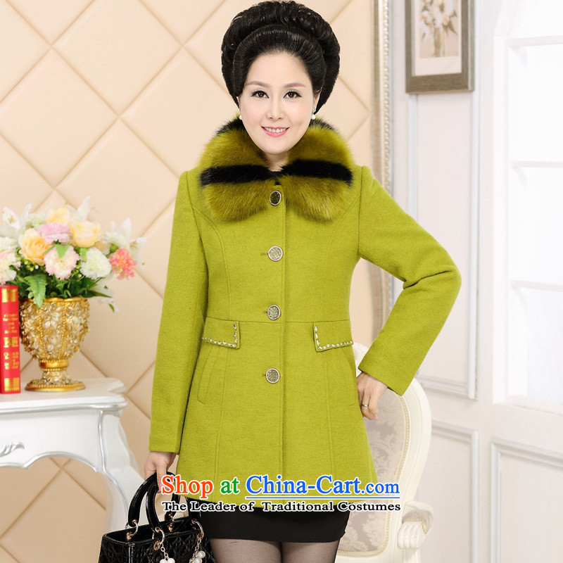 The Secretary for Health concerns of older women shop * woolen coat for thick hair? A Fall/Winter Collections in the middle-aged moms long cashmere overcoat orange?4XL( recommendations 140-155 catty)
