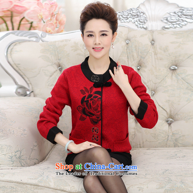The Secretary for Health concerns of older women shop * Replace Replace autumn and winter coats mom to intensify the grandma replacing sweater knitting cardigan older persons in purple shirt?2XL
