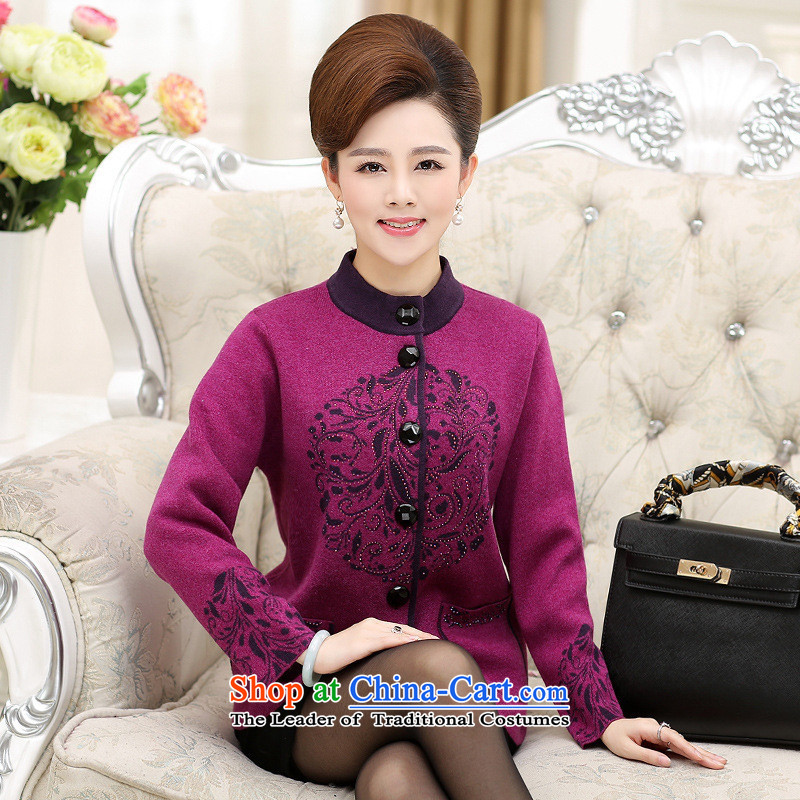 The Secretary for Health concerns of older women shop * Replacing Fall/Winter Collections knitting cardigan larger mother replacing thick Fleece Jacket and middle-aged 40-50 years old color L