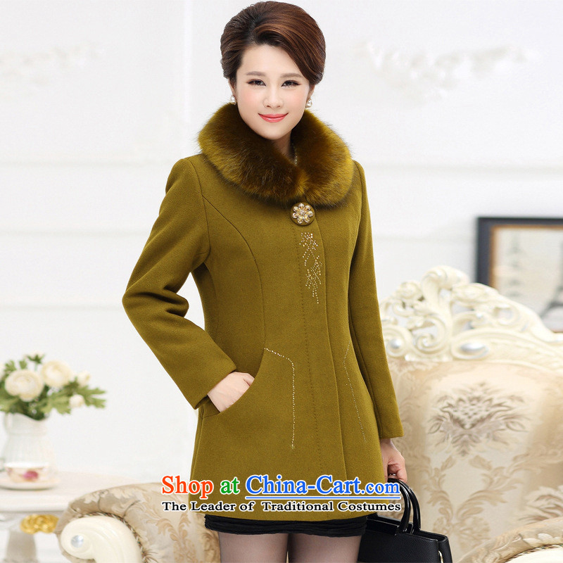 The Secretary for Health concerns of older * shop cashmere overcoat girl in the long load mother gross? Overcoat for winter coats female autumn and winter middle-aged?5XL aubergine