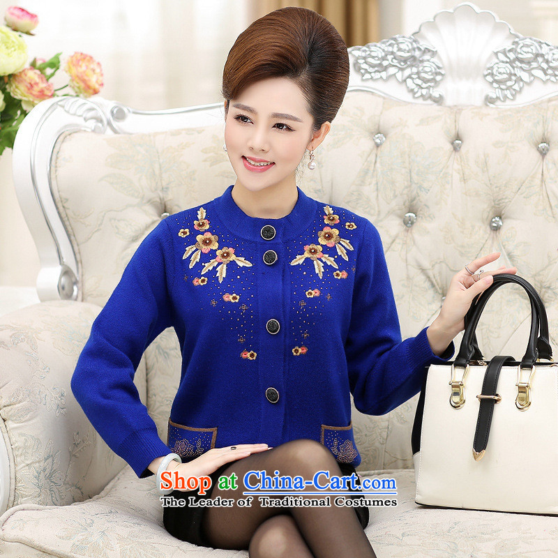 The Secretary for Health related shop _ of older persons in the women's autumn and winter jackets MOM pack elderly grandmothers loaded thick sweater cardigan larger woolen sweater in purple,?105-125 L recommendations catty_