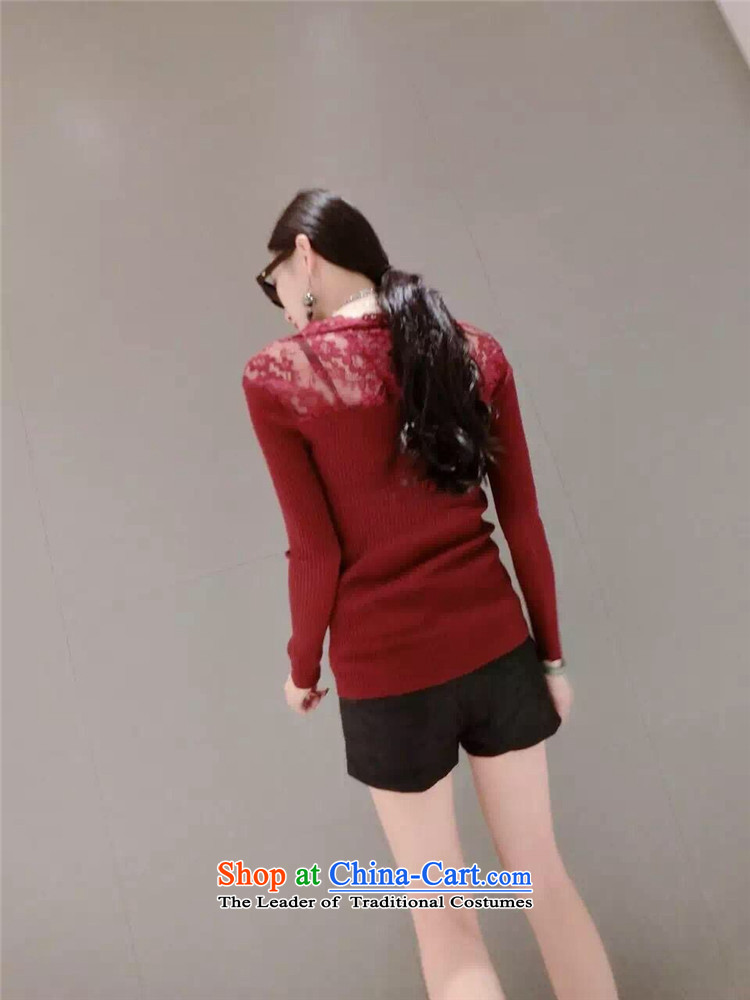 Mano-hwan won women 2015 Autumn edition new products v-neck long-sleeved small fluoroscopy lace spell checker shirt knitwear gray are code pictures, prices, brand platters! The elections are supplied in the national character of distribution, so action, buy now enjoy more preferential! As soon as possible.