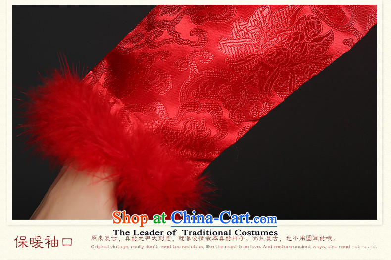 The bride cheongsam dress tslyzm wedding dress bows Service, 2015 New autumn and winter back door onto a long-sleeved Sau San Mao for Tang Women's clothes autumn red XXL picture, prices, brand platters! The elections are supplied in the national character of distribution, so action, buy now enjoy more preferential! As soon as possible.