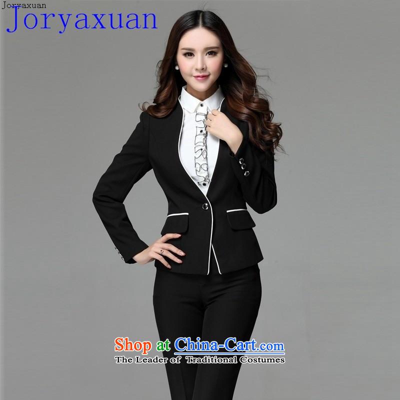 Deloitte Touche Tohmatsu fine shops spring new vocational kits long-sleeved female Korean citizenry Interview with stylish coat female black skirt?XXXL kit