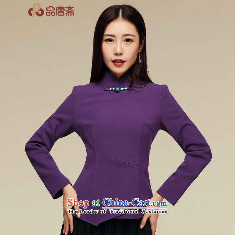Tang Tang Dynasty Ramadan No. 2015 Ms. new fall inside China wind female long-sleeved shirt qipao Chinese map color燲L