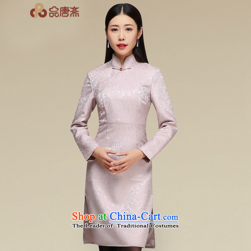 No. of Ramadan improved cheongsam dress Tang 2015 New China wind female retro long-sleeved cheongsam dress photo color燣