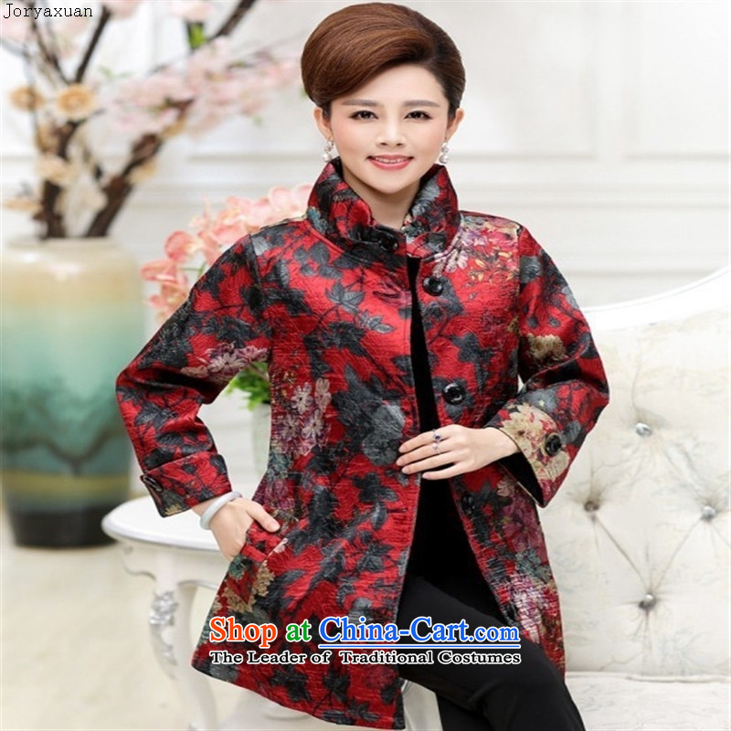 Web soft clothes middle-aged moms replacing autumn new) Older women in autumn jacket Long Hoodie 40-50-year-old聽YQJ158聽XXXL, Cheuk-yan xuan ya red (joryaxuan) , , , shopping on the Internet