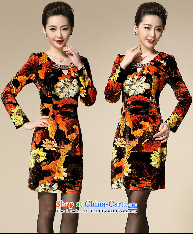 Web soft clothes with new autumn 2015 upscale Kim velvet long-sleeved large 40-50 in older MOM pack green聽XXL picture, prices, brand platters! The elections are supplied in the national character of distribution, so action, buy now enjoy more preferential! As soon as possible.