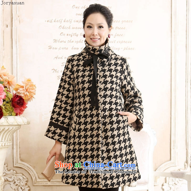 New clothes soft web of older women fall jacket coat middle-aged moms with gross warm?? coats b04 figure color (coat) XXXL?
