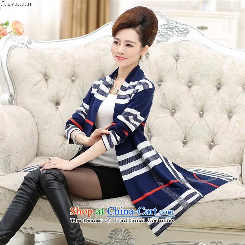 Web soft trappings of older women's stylish shawl cardigan jacket MOM pack in the autumn of long-sleeved and color燣