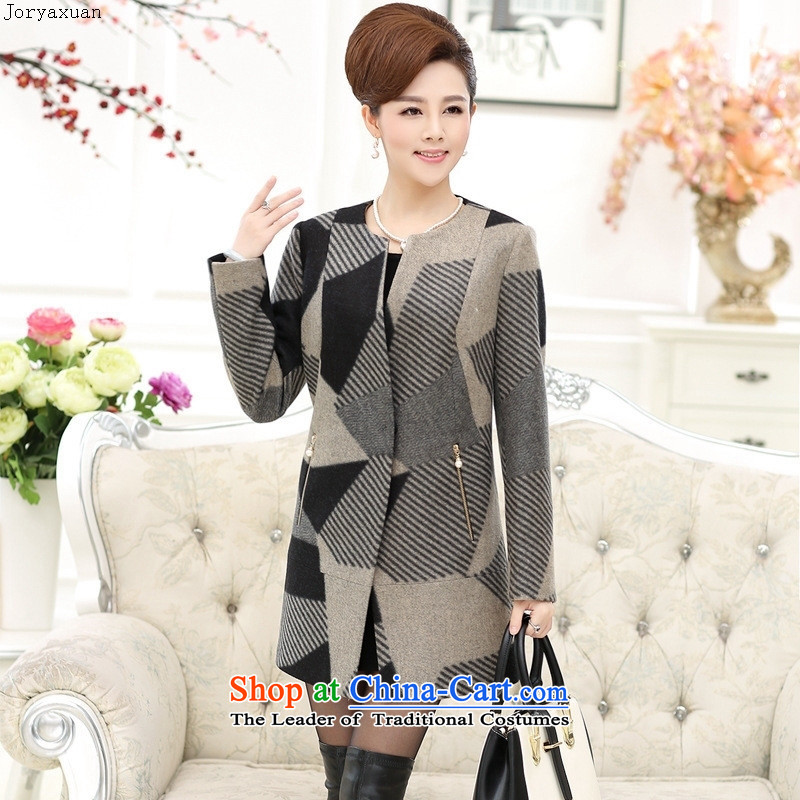 Web soft trappings of older women fall inside windbreaker during the spring and autumn load middle-aged mother new product installed gross? Overcoat Gray�L