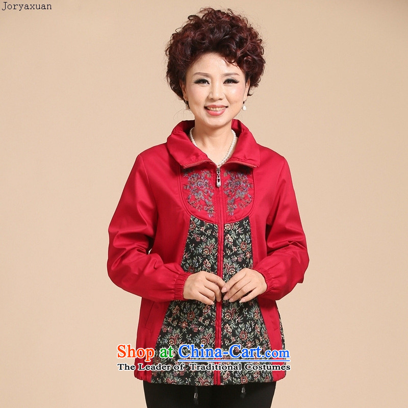 Web soft trappings of older women with new moms autumn jackets for larger mother jackets autumn jackets. Long Red?4XL