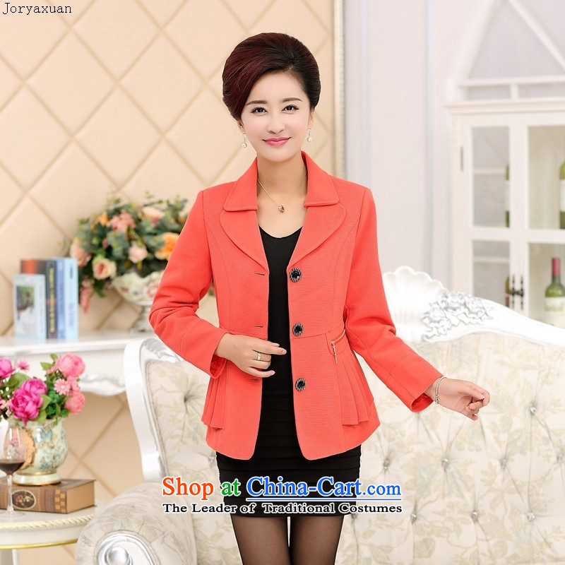 Web soft clothes in the autumn of 2015, the new elderly women and replace jacket with large middle-aged mother suits for the small blue?XXXXL female