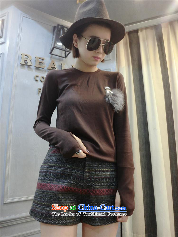 Ya-ting shop 2015 autumn and winter for women new Korean Pure cotton T-shirt with round collar forming the Netherlands to Sau San long-sleeved T-shirt black are code pictures, prices, brand platters! The elections are supplied in the national character of distribution, so action, buy now enjoy more preferential! As soon as possible.