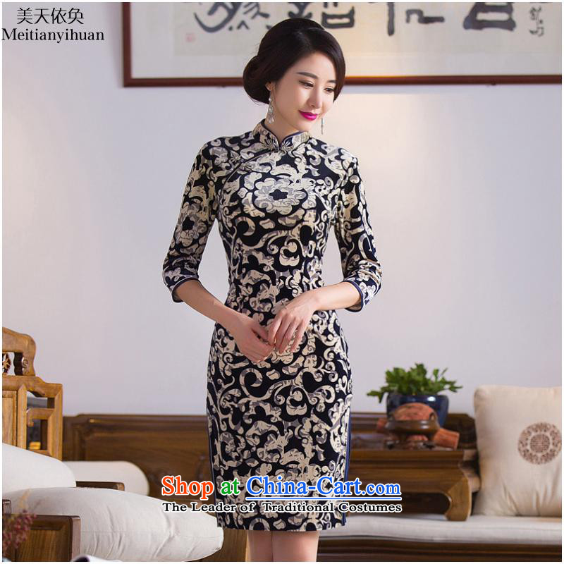 2015 stamp of the forklift truck retro qipao FZ304 new picture color聽XL, American days in accordance with the property (meitianyihuan) , , , shopping on the Internet