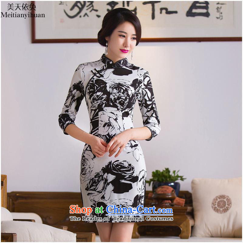 2015 Fall Short of new) Cuff FZ304 qipao picture color?S