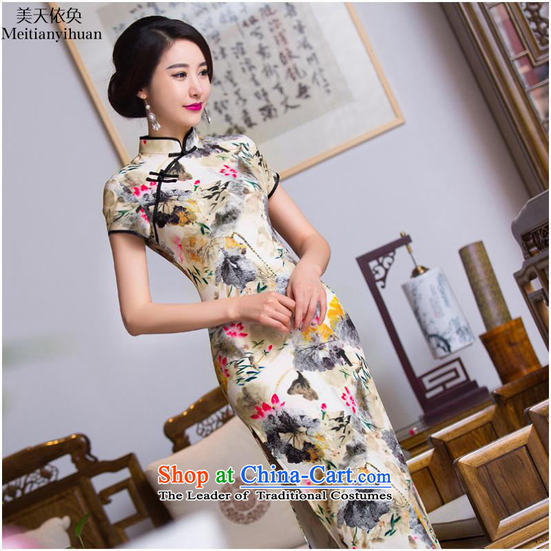 Long qipao ink stamp new cheongsam FZ304 picture color�S