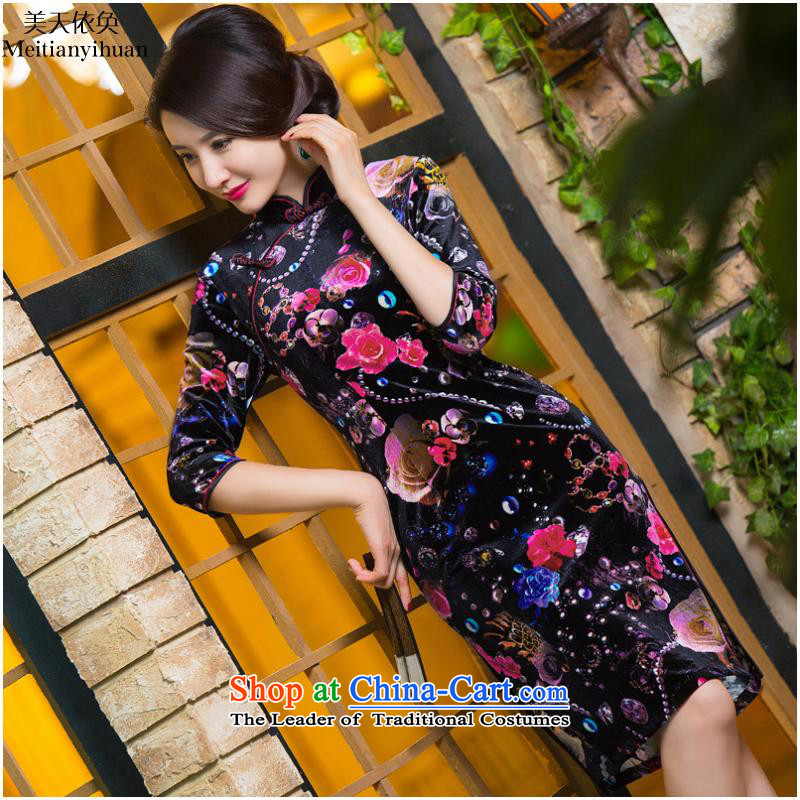 The autumn and winter cheongsam new burned in Stylish retro-elderly mother replacing FZ304 banquet 286 L