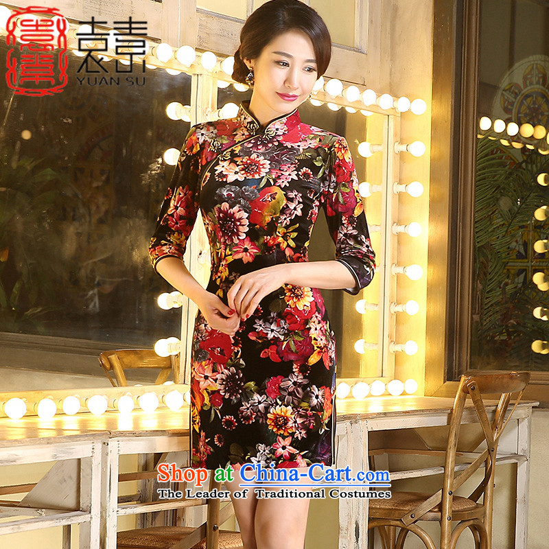 Yuan of years 2015 China wind cheongsam dress fall inside the new improved cheongsam dress with older qipao mother Stylish retro ZA3R01 picture color S