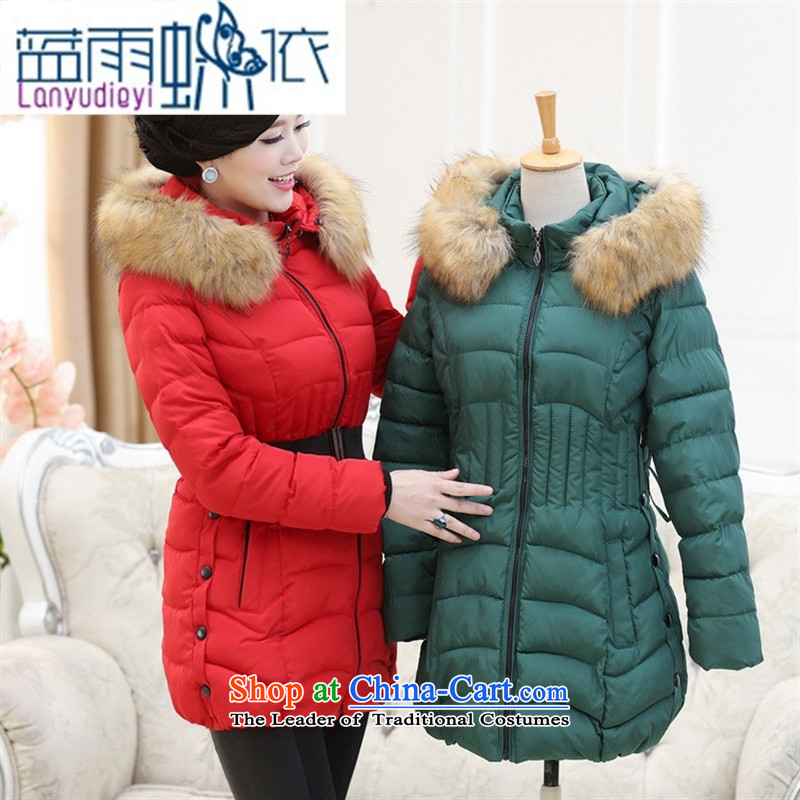 Ya-ting shop in the new 2015 older women for winter coat. Made from mother boxed long cotton robe middle-aged moms female black燲XXXL