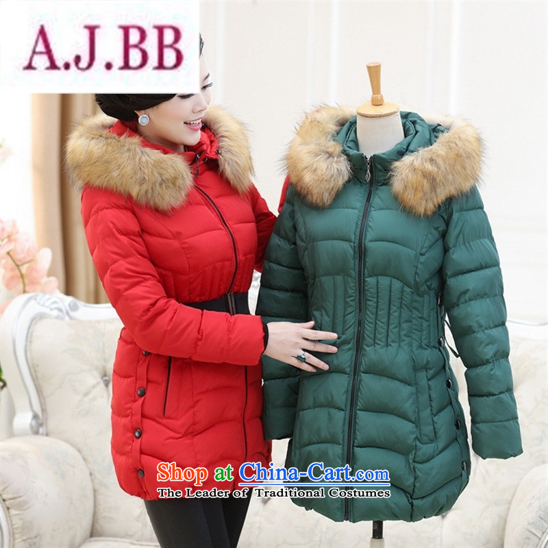 Ms Rebecca Pun and fashion boutiques in 2015 new older women for winter coat. Made from mother boxed long cotton robe middle-aged moms female gray燲XL