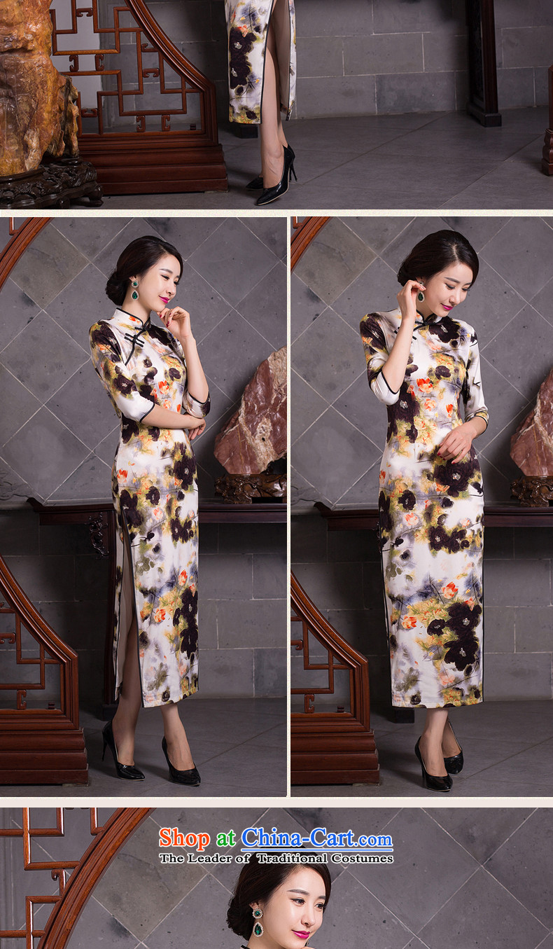 New fall smoke dan Mock-neck daily retro improved long Silk Cheongsam Sau San 7 cuff dresses female figure color聽L picture, prices, brand platters! The elections are supplied in the national character of distribution, so action, buy now enjoy more preferential! As soon as possible.