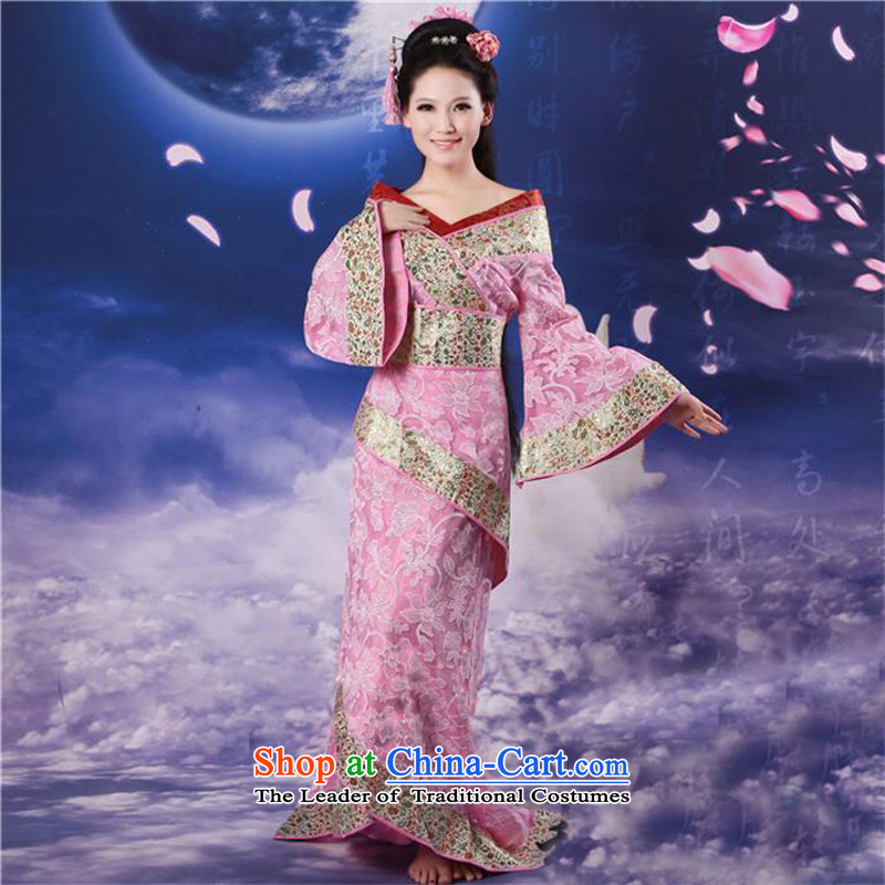 Time Syrian costume Tang Dynasty Gwi-load clothing fairies skirt will affect photographic portrait ancient theatrical services Han-Chinese clothing Pink
