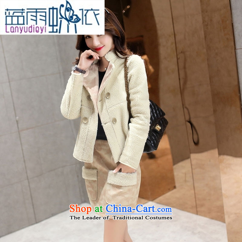 Ya-ting shop 2015 winter clothing new products Korean Female dress with two kits BHJY2516 black聽XXL