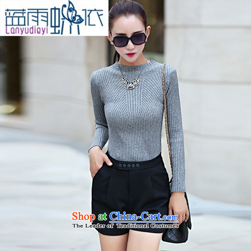 Ya-ting shop 2015 Fall/Winter Collections of new products Korean ladies' pants with two-piece BXMTZ8102 dragon gray suit�M