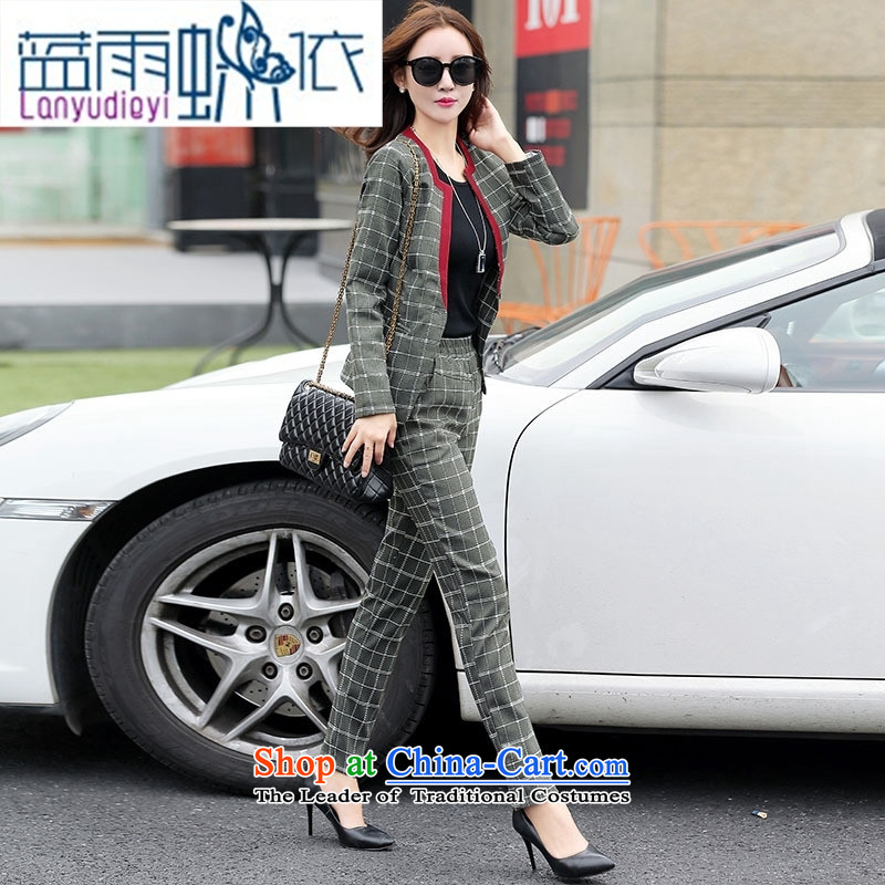 Ya-ting shop 2015 winter clothing new products Korean women's stylish pants two kits BSYG6178 Lung Haig聽L