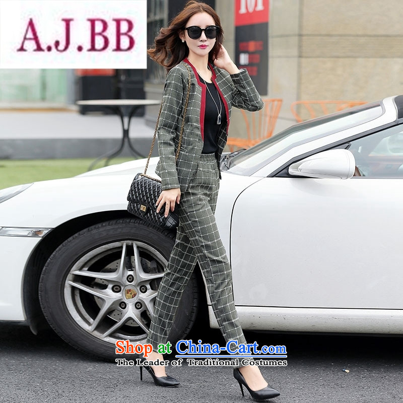 Ms Rebecca Pun stylish shops 2015 winter clothing new products Korean women's stylish pants two kits BSYG6178 dragon gray cells聽XL