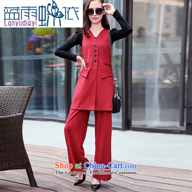 Ya-ting shop 2015 winter clothing new products Korean women's stylish pants kits BSYG6172 Black聽XL