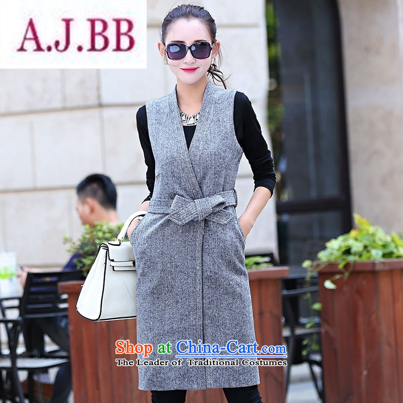 Ms Rebecca Pun stylish shops 2015 winter clothing new products Korean female vest jacket in two kits BSYG6163 dragon light coffee聽M