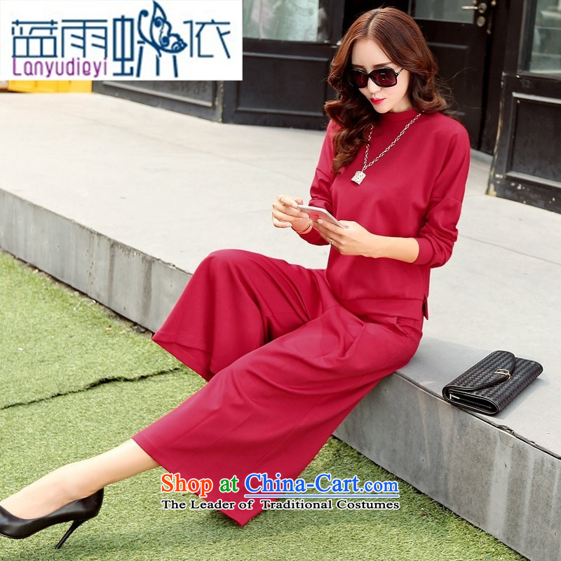 Ya-ting shop 2015 new products fall Korean female elegant pants BYBE105 two kits with hanging dragon champagne color?XXL