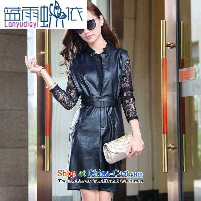 Ya-ting shop 2015 winter clothing new products Korean women, a stylish two kits BSYG6180 lung picture color�L