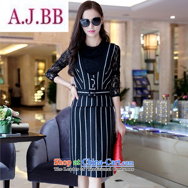 Ms Rebecca Pun stylish shops 2015 winter clothing new products Korean female elegant dresses two kits BSYG6177 dragon gray燲L