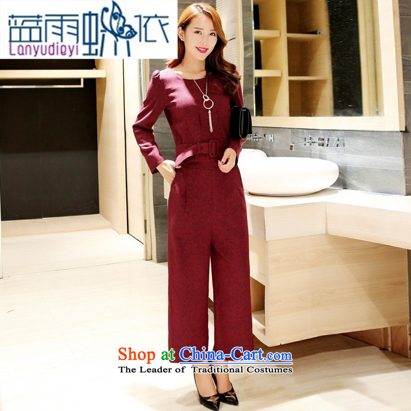 Ya-ting shop 2015 new products fall Korean female trend pants two kits with Hang Lung BYBE109 GRAY聽S