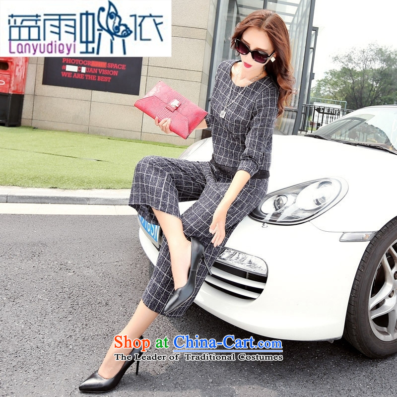 Ya-ting shop 2015 new products fall Korean female perfect pants BYBE101 two kits with hanging dragon gray聽M