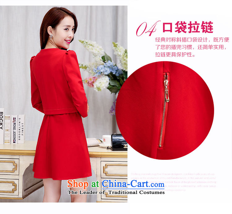 Ms Rebecca Pun stylish shops 2015 Fall/Winter Collections of new products Korean women's dresses BAMS9039 two kits with waistband dragon red and black聽XXL picture, prices, brand platters! The elections are supplied in the national character of distribution, so action, buy now enjoy more preferential! As soon as possible.